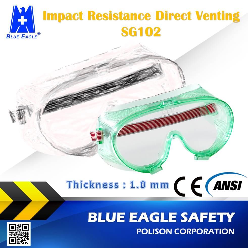Sicurezza sul lavoro Forniture SG102 resistenza agli urti diretta sfiato di sicurezza occhiali