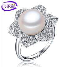 AAA 925 Silver Freshwater Pearl Ring Jewelry PR104
