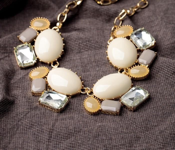 Ожерелья для женщин, продающих ol элегантные текстуры светлого цвета свитер ожерелье