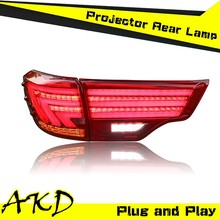 AKD Car Styling LED Tail Light for 2015 Toyota New Highlander Tail Lights Rear Trunk Lamp DRL+Turn Signal+Reverse+Brake