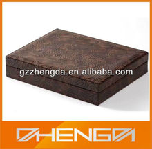 High quality customized made-in-china Pretty Faux Brown Leather Storage Box(ZDW13-290)