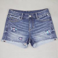 FACTORY DIRECTLY!! OEM Quality best designer back pocket sexy women short jeans