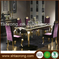 Factory direct antique home wooden dining room table with chairs