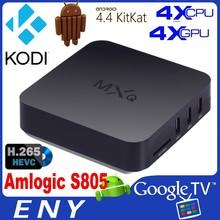 2014 New Amlogic S805 Kodi H.265 EM6Q MXQ Quad Core Android 4.4 3d 1080p media player