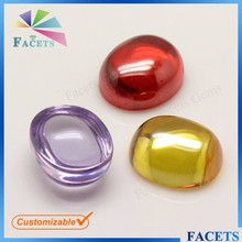 Newest Products 5*7 mm Rough Oval Cabochon Lavebder Logo Bulk Cabochons Wholesale