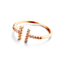 New designs famous brand for women dubai gold plated adjustable rings