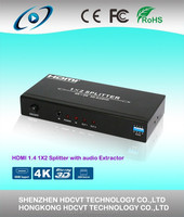 HDMI Amplified Powered Splitter / Signal Distributor 1X2 , with audio extraction