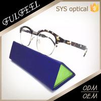Custom brand half rim optical frame ,particular transparent spectacle frames