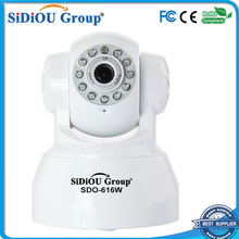 Sidiou Group SDO-616W Wifi Pan Tilt IP Camera Security Camera with Two-way Audio, Night Vision, Alarm Output, Alarm by Email, FT