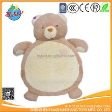 cute soft animal bear plush baby play mat for funs