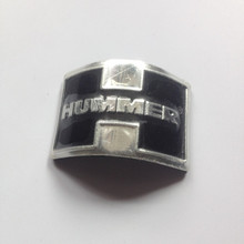 custom aluminium chrome emblem, car badge, car sticker