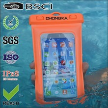 Wholesale multicolor pvc waterproof mobile phone bag for iphone with strap