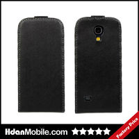 Black Mobile Phone Flip Leather Case for Samsung Galaxy S4 Mini i9190