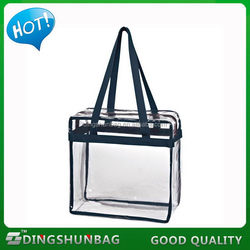 Designer exported 210d polyester clip-on fold-up tote bag