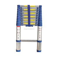 New type blue color 3.8m telescopic aluminum ladder /folding ladder EN131 standard