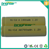 nicd battery 700mAh AA 1.2v NICD Rechargeable Batterie
