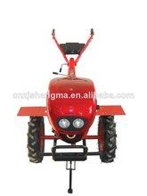 Diesel 10hp mini granja tractor rotatorio de la mano de la rueda azada/azadón cultivador mini cultivador