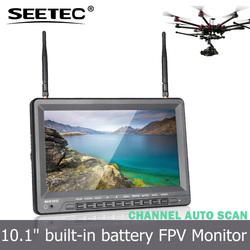 10.1 inch battery powered 5.8ghz wireless ground station fpv display high brightness lcd monitor quadcopter diy