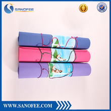 No Irritating-Smell Eco-Friendly Non Slip Thick Workout Mats for Yoga Exercise,Camping,Pilates with Carrying Strap and Bag