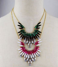 Multi layers long different types of necklace chains jewelry elegant