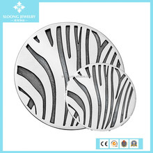 2015 New Fashion Sterling Silver Zebra Oxidised Coin for Locket Pendant