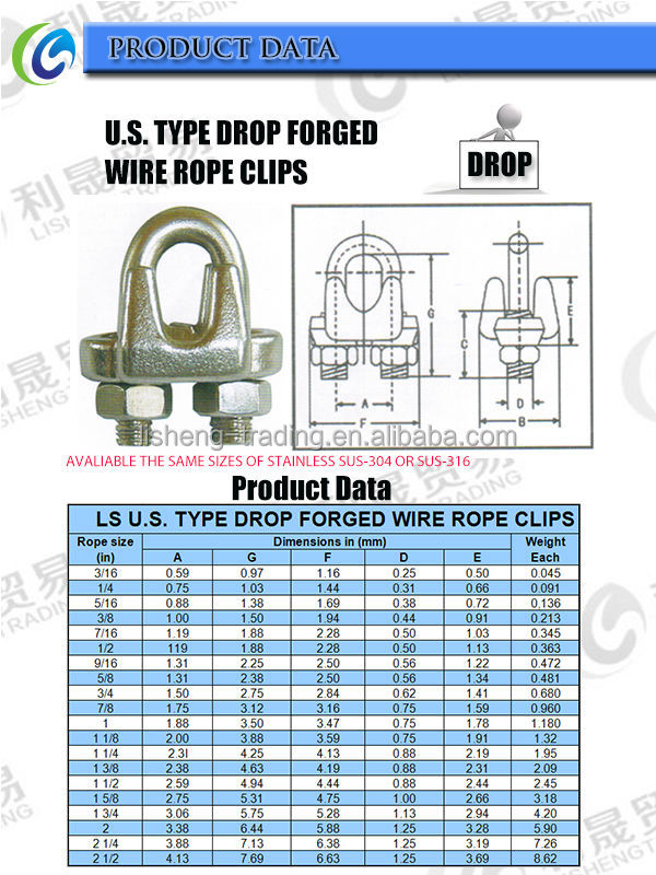 U.s Type Drop Forged Metal Clip Or Clamps Or Wire Rope Clip - Buy ...