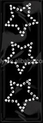 2016 Hot Sale Rhinestone Stickers ,Clear Acrylic Crystal Stickers -Stars Sticker Bling