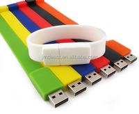 Promotion Gift cheap USB Flash Drive silicone bracelet Pendrive Memory Stick mini pendrive with custom logo