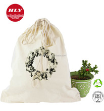 New recycle promotion Cotton drawstring plain bag With all sizes Costomized