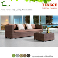 TG15-0008 Fashion life plastic rattan outdoor sofa