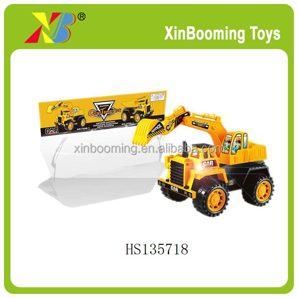 High quality Friction Power Big Truck toys with light