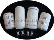 Cotton crepe elastic casting bandages, cotton plain elastic bandages, 100% soft cotton crepe
