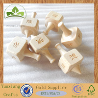 wooden hand spinning top square peg-top