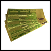 Gold foil 24k pure gold banknotes gift and craft souvenir banknotes