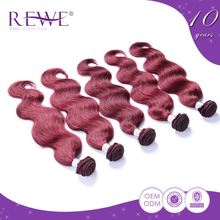 Export Quality 2 Year Warranty Virgin Highlights Ruby Brazilian Hair Red For Hair