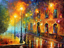 Hand-painted impressionism scenery knife woman oil painting 44719