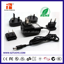 UL,CE, ROHS 15W interchangeable plugs adaptor 5V 3A Switching Power AC/DC Adapters