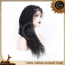 Virgin brazilian human hair afro kinky curly virgin brazilian hair half wigs with baby hair