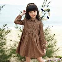 custom long slevee flower printing latest dress patterns for girls