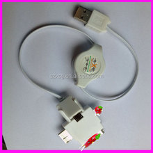 Hot sale cheap 4 in 1 USB cable wholesale mini micro usb date cable for iphone samsung android in china