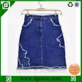 top design oem fornecedor jeans meninas e mulheres sexy skinny curta tight saia mais recente modelo
