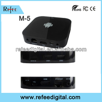 Android smart tv receiver box for ethernet music player