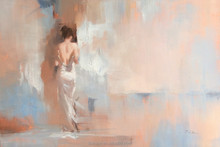 Beautiful Back of a Half-Naked Lady Oil Painting on Canvas for Wall Art Decoration