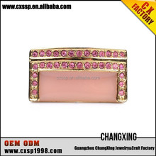 2015 The Newest noble pink fashion gold diamond engagement ring