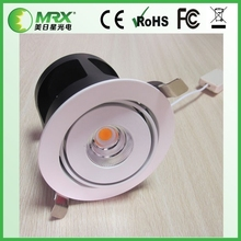 2015 Hot sale downlight lamp ce rohs certified round cob led downlight 20w
