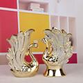 La decoración del hogar del regalo de boda de cerámica de los pavos reales / parejas de cerámica de artículos de tapicería