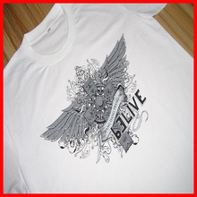 Top quality 100 cotton mens t shirts with custom printing