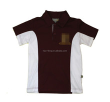 2015 New design polo shirt Stitching T-shirt with embroidered