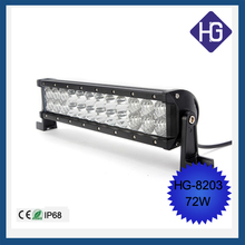 "Offroad auto light bars double row high intensity and quality 72w 12"" Crees LED light bar"