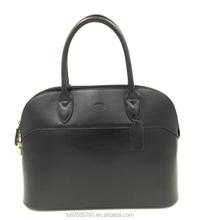 Genuine leather handbag black women leather tote bag